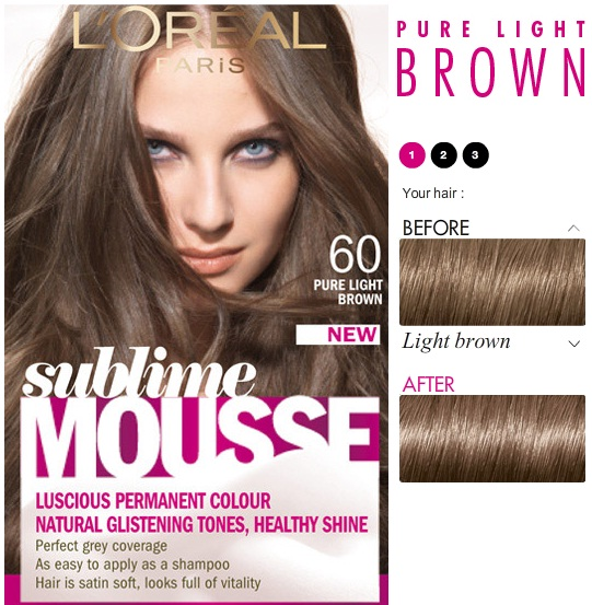 Краска для волос l oreal sublime mousse 600 pure light
